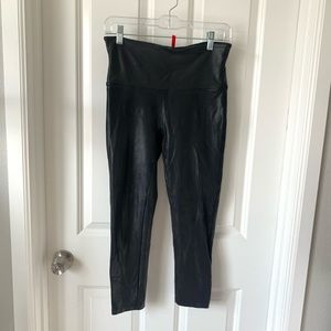 Spanx faux leather leggings size L